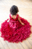 Детское платье Урсула, цвета бордо