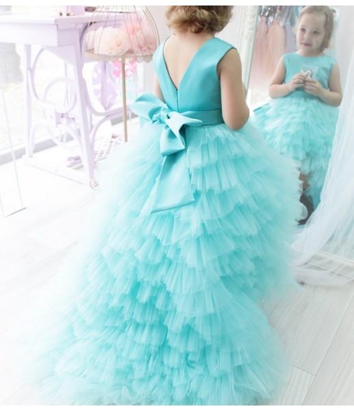 Детское платье Урсула, цвет тиффани