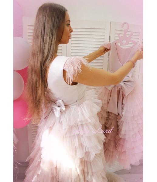 Комплект платьев Урсула в пудровом цвете
