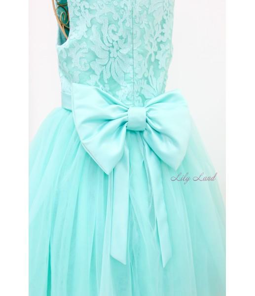 Детское платье Итальянское кружево, цвет Тиффани