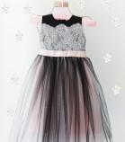 Детское платье Винтажное кружево, цвет черный