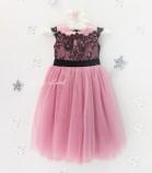 Детское платье Винтажное кружево, цвет чайная роза