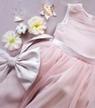 Детское платье Зефирное облако, цвет пудра