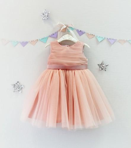 Детское платье Зефирное облако, цвет персик