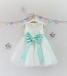 Детское платье Зефирное облако, цвет айвори и мята