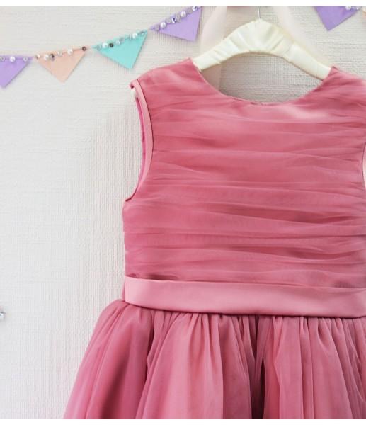 Детское платье Зефирное облако, цвет чайная роза