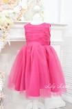 Детское платье Зефирное облако, цвет малина