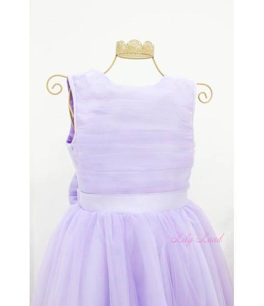 Детское платье Зефирное облако, цвет лаванда